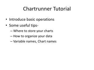 Chartrunner Tutorial