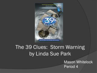 The 39 Clues:  Storm Warning by Linda Sue Park