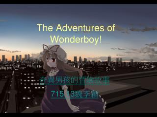 The Adventures of Wonderboy!
