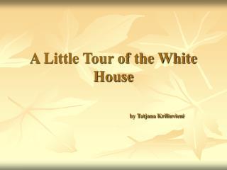 A Little Tour of the White House by Tatjana Kriliuvien ė