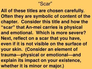 """Scar"""