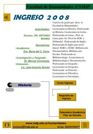 INGRESO  2 0 0 8