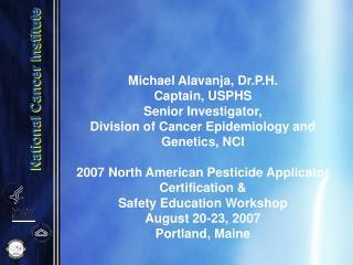 Do pesticides cause cancer ?