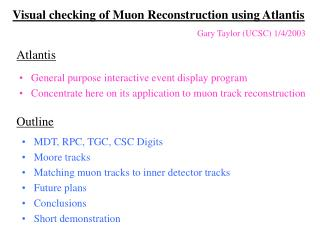 Visual checking of Muon Reconstruction using Atlantis
