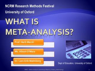 What is  Meta-analysis?