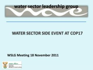 WATER SECTOR SIDE EVENT AT COP17