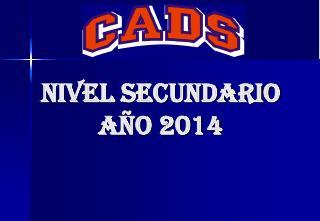 Nivel secundario Año 2014