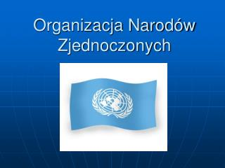 Organizacja Narodów Zjednoczonych