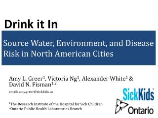 Source Water, Environment, and Disease Risk in North American Cities