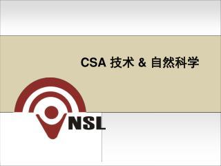 CSA  技术  &  自然科学