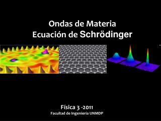 Ondas de Materia Ecuación de  Schrödinger