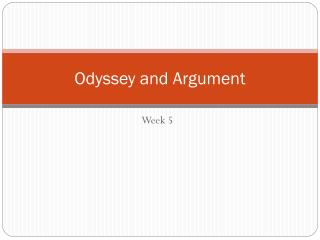 Odyssey and Argument