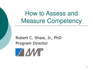 How to Assess and Measure Competency