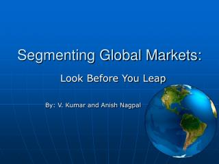 Segmenting Global Markets: