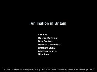 Animation in Britain