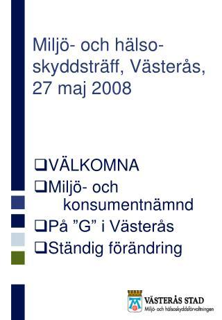 Miljö- och hälso-skyddsträff, Västerås, 27 maj 2008