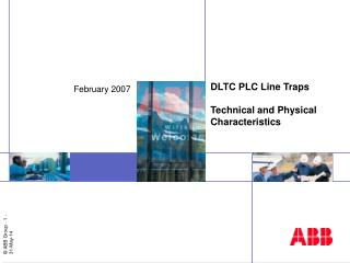 DLTC PLC Line Traps  Technical and Physical Characteristics