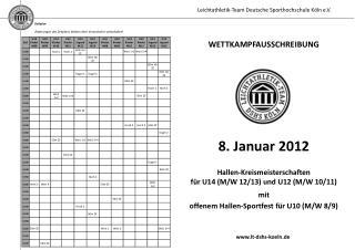 Zeitplan Änderungen des Zeitplans bleiben dem Veranstalter vorbehalten!