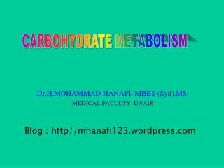 Dr.H.MOHAMMAD HANAFI, MBBS (Syd).MS. MEDICAL FACULTY  UNAIR