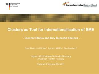 Clusters as Tool for Internationalisation of SME - Current Status and Key Success Factors -