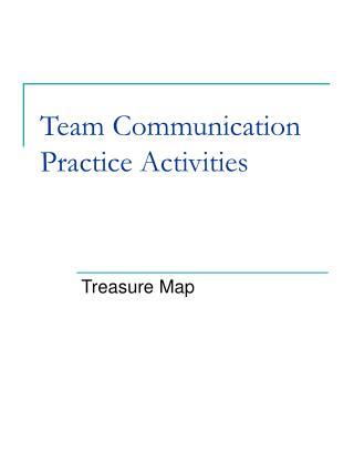 Team Communication Practice Activities