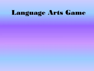Language Arts Game