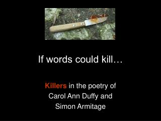 If words could kill…