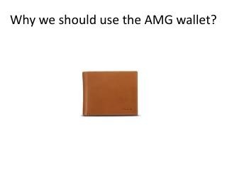 Why we should use the AMG wallet?