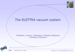 The ELETTRA vacuum system