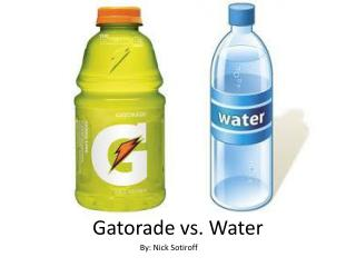 Gatorade vs. Water
