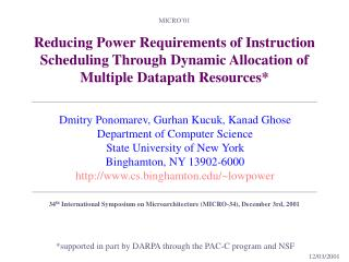 *supported in part by DARPA through the PAC-C program and NSF