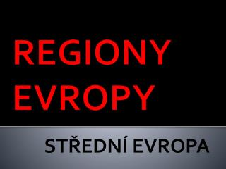 REGIONY EVROPY