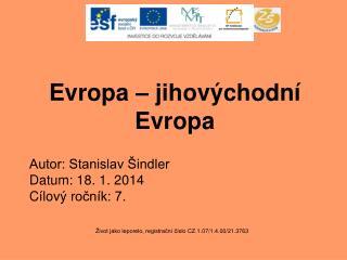 Evropa – jihovýchodní Evropa