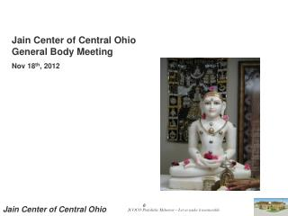 Jain Center of Central Ohio  General Body Meeting