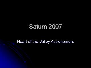 Saturn 2007