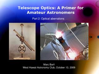 Telescope Optics: A Primer for Amateur Astronomers