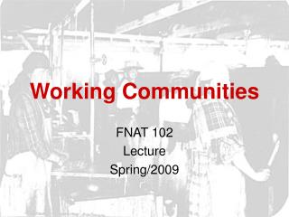 Working Communities