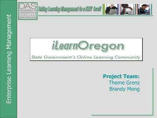 Project Team:  Theme Grenz Brandy Meng