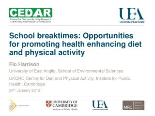 School breaktimes: Opportunities for promoting health enhancing diet and physical activity