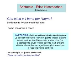 Aristotele - Etica Nicomachea Introduzione