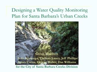 Designing a Water Quality Monitoring Plan for Santa Barbara's Urban Creeks