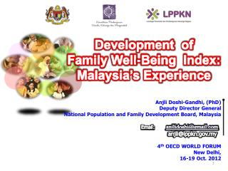 Development  of  Family Well-Being  Index:   Malaysia's Experience