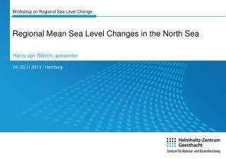 Workshop on Regional Sea Level Change
