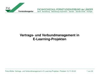 Vertrags- und Verbundmanagement in  E-Learning-Projekten