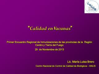 Lic. María Luisa Brero