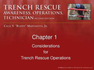 Considerations for Trench Rescue Operations