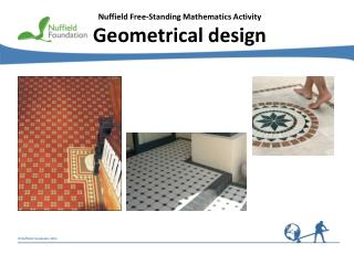 Nuffield Free-Standing Mathematics Activity Geometrical design