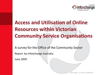Access and Utilisation of Online Resources within Victorian Community Service Organisations