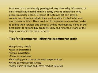 Tips Of Effective Ecommerce Shopping Cart