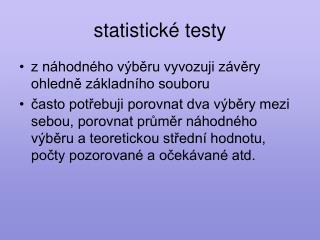 Statistick  testy